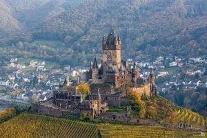 Cochem Kalesi Reichsburg Almanya
