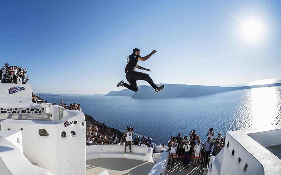 Redbull Art of Motion çekimleri, Santorini